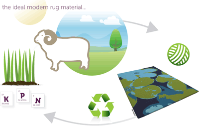 Wool benefits - the ideal modern rug material
