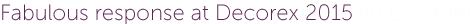 Rug Couture at DECOREX 2015