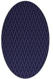rug #1011997   oval blue-violet rug