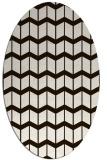 rug #1014025 | oval gradient rug
