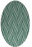 rug #1015685 | oval green rug
