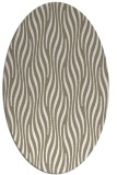 rug #1015705 | oval mid-brown rug