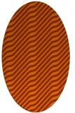 rug #1017633 | oval red-orange rug