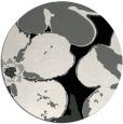 rug #1019133 | round black rug