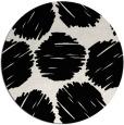 rug #1020138 | round black rug