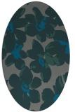 rug #102025 | oval blue-green rug