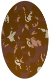rug #102041 | oval mid-brown rug