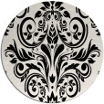 rug #1021218 | round black rug