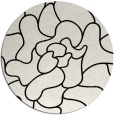 rug #1021358 | round black abstract rug