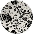 rug #1021838 | round black rug