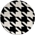 rug #1022038 | round black rug