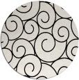 rug #1022278 | round black rug