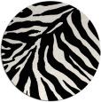 rug #1022338 | round black rug