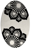 rug #1023110 | oval black rug