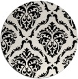 rug #1023298 | round black damask rug