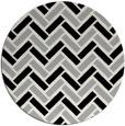 rug #1025798 | round black rug