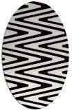 rug #1026010 | oval black rug