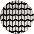 rug #1027238 | round black rug