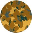 rug #102905   round light-orange rug