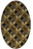rug #103773 | oval mid-brown rug