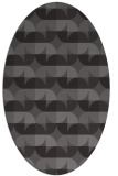 rug #103805 | oval brown rug