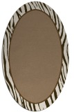 rug #1040874 | oval mid-brown rug