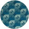 rug #104409 | round blue-green rug