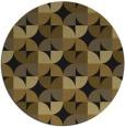 rug #104477 | round black rug