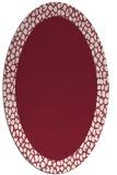 rug #1046462 | oval pink rug