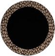 rug #1046986 | round black rug