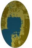rug #1052098 | oval green rug
