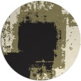 rug #1052778 | round black abstract rug