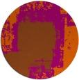 rug #1053030 | round red-orange rug