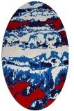 rug #1055950 | oval red rug
