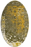 rug #1061537 | oval traditional rug