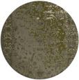 rug #1062302 | round light-green rug