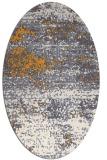 rug #1065262 | oval light-orange rug