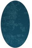 rug #1068650 | oval blue-green rug