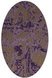 rug #1070662 | oval mid-brown rug