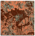 rug #1072106 | square red-orange rug