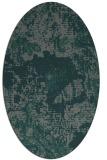 rug #1072390 | oval blue-green rug