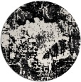 rug #1072998 | round black abstract rug