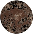 rug #1073010 | round black abstract rug