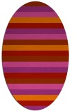 rug #107430 | oval stripes rug