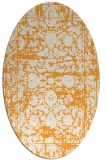 rug #1079982 | oval light-orange rug