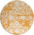 rug #1080718 | round light-orange rug