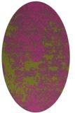 rug #1081802 | oval light-green rug