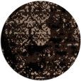 rug #1082206 | round black rug