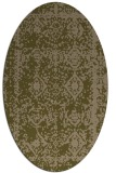 rug #1083414 | oval mid-brown rug