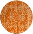 rug #1084306 | round red-orange rug